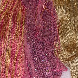 4 scarves wraps shimmer sparkle metallic sequins